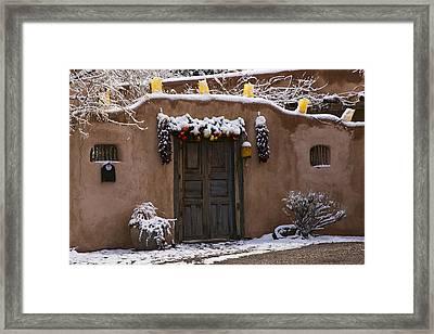Santa Fe Style Southwestern Adobe Door Framed Print by Dave Dilli