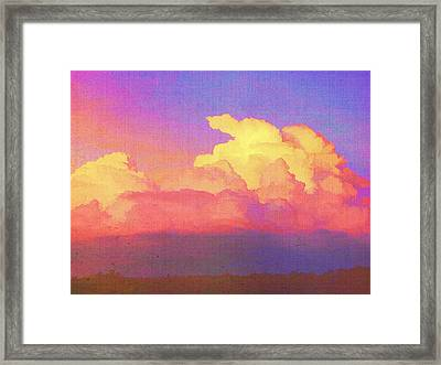 Santa Fe Sunset Framed Print