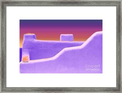 Santa Fe Sunset Framed Print by Linda  Parker