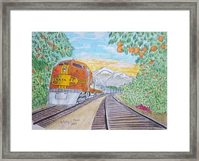 Santa Fe Super Chief Train Framed Print by Kathy Marrs Chandler