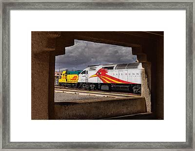 Santa Fe Train Framed Print