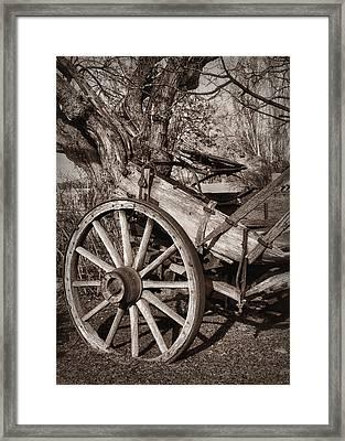 Santa Fe Wagon Framed Print by Nikolyn McDonald