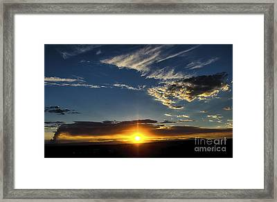 Santa Fe Wildfire At Sunset Framed Print