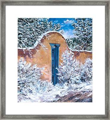 Santa Fe Winter Framed Print