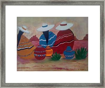 Santa Fe Women Framed Print