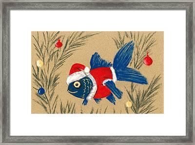 Santa Fish Framed Print by Anastasiya Malakhova