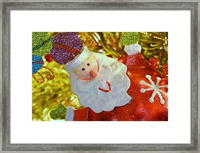 Santa Greetings Framed Print