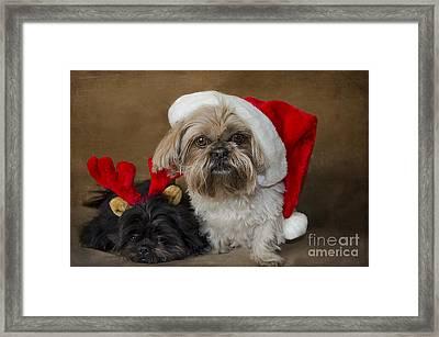 Santa I Am Tired  Framed Print by Nicole Markmann Nelson
