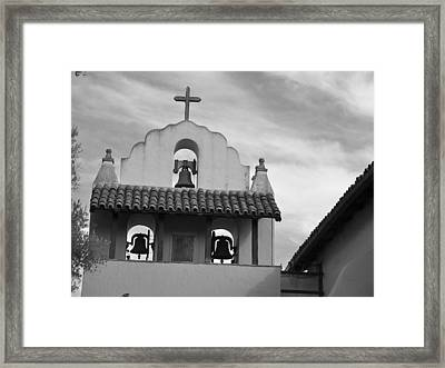 Santa Ines Mission Bell Tower Framed Print