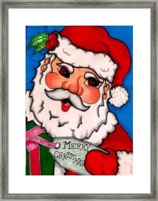 Santa  Framed Print by Jame Hayes