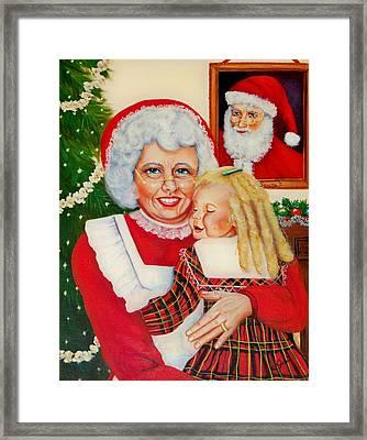 Santa Framed Print by Joni McPherson
