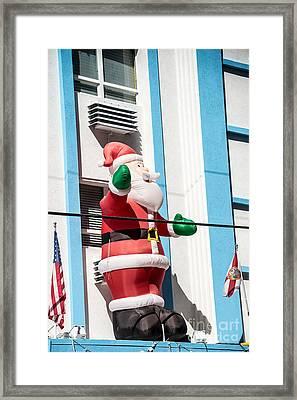 Santa Key West Style Framed Print