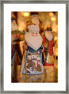 Santa  Framed Print by Lora Lee Chapman