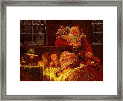 Santa Loves Cookies Framed Print by Steve Roberts