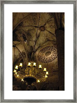 Santa Maria Del Mar Basilica V Framed Print by Kathy Schumann