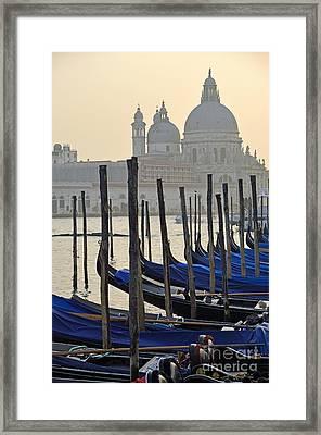 Santa Maria Della Salute By Gondolas Framed Print by Sami Sarkis
