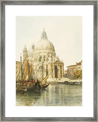 Santa Maria Della Salute Framed Print by Jacques Guiaud