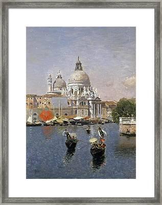 Santa Maria Della Salute Framed Print by Martin Rico y Ortega