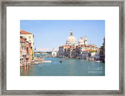 Santa Maria Della Salute On The Grand Canal In Venice Framed Print by Matteo Colombo
