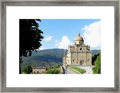 Santa Maria Nuova In Cortona Framed Print by Irina Stroup