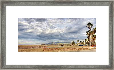 Santa Monica Beach Framed Print