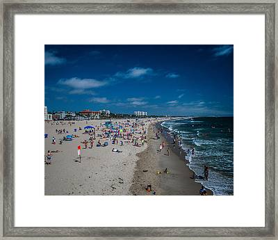 Santa Monica Beach Framed Print