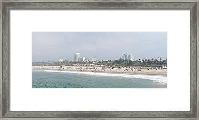 Santa Monica Beach, Santa Monica, Los Framed Print by Panoramic Images