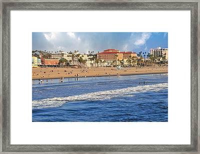 Santa Monica Beach View  Framed Print by Lynn Bauer