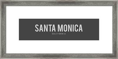 Santa Monica, California Framed Print by Design Ideas