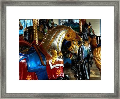 Santa Monica Carousel 001 Framed Print
