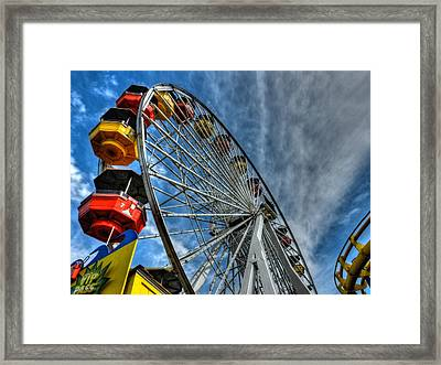 Santa Monica Pier 006 Framed Print by Lance Vaughn