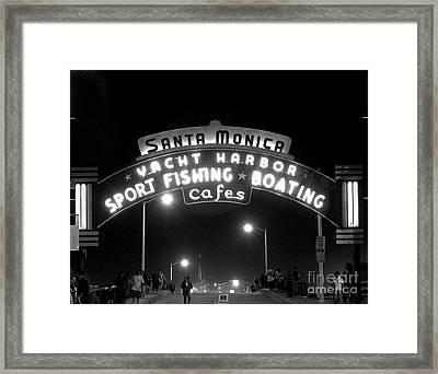 Santa Monica Pier 1 Framed Print