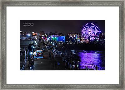 Santa Monica Pier 5 Framed Print by Gandz Photography