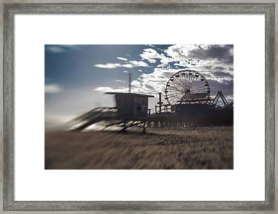 End Of The Day Or Times At Santa Monica Pier Framed Print
