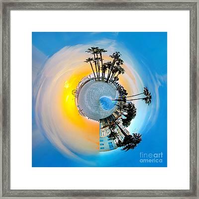 Santa Monica Pier Circagraph Framed Print by Az Jackson