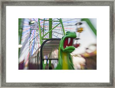 Roar Green Dragon Ride Framed Print by Scott Campbell