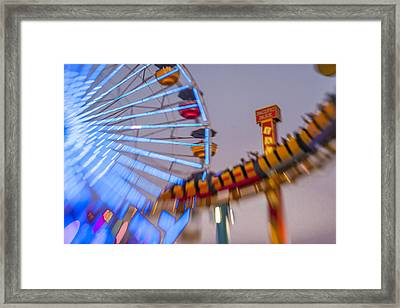 Now I Know It Was A Dream Santa Monica Ferris Wheel Framed Print by Scott Campbell