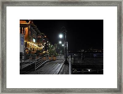 Santa Monica Pier Framed Print by Gandz Photography