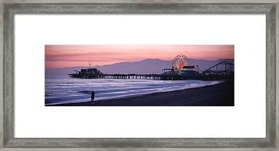 Santa Monica Pier Santa Monica Ca Framed Print by Panoramic Images