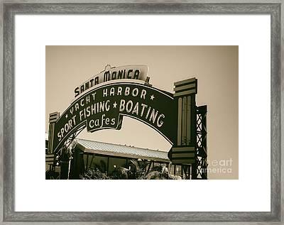 Santa Monica Pier Sign Framed Print