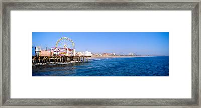 Santa Monica Pier With Ferris Wheel Framed Print