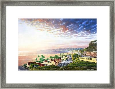 Santa Monica View North Framed Print