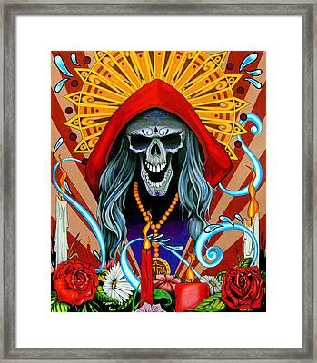 Santa Muerte Framed Print by Steve Hartwell