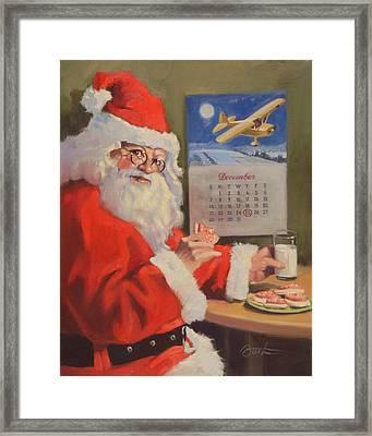 Santa Nan 2 Framed Print by Todd Baxter