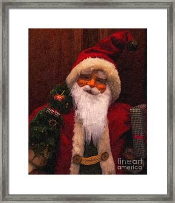 Santa Framed Print by Nancie DeMellia