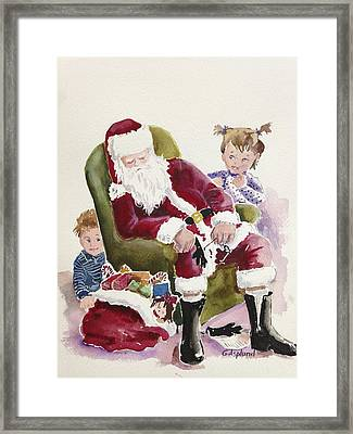 Waiting Up For Santa Framed Print