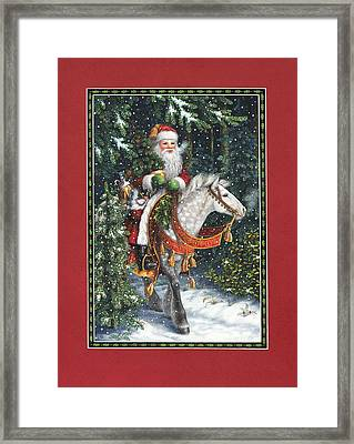 Santa Of The Northern Forest Framed Print by Lynn Bywaters