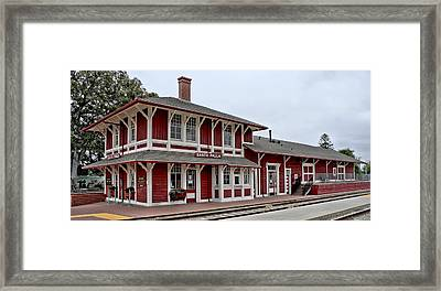 Framed Print featuring the photograph Santa Paula Station by Michael Gordon