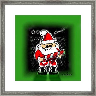 Santa Rocks Framed Print