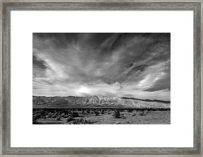 Santa Rosa Mountains Framed Print by Peter Tellone